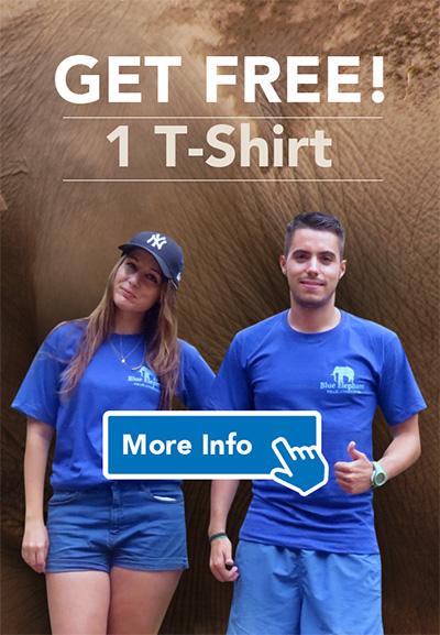 T-shirt Blue Elephant Thailand Tours